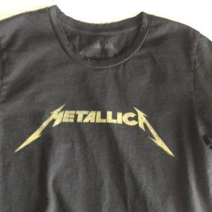Metallica grunge / distress neckline T-shirt  SM